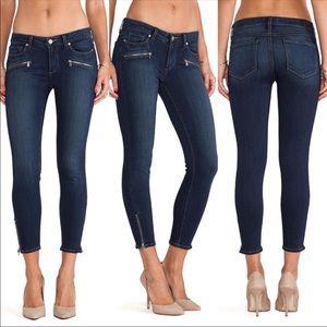 PAIGE 'Jane' zip crop jeans with zipper pockets
